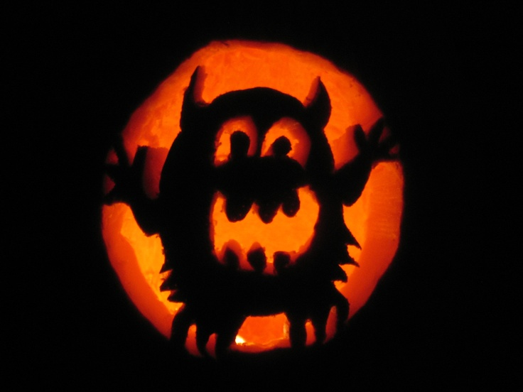 59 best jack o lantern templates images on pinterest for Monster pumpkin carving patterns