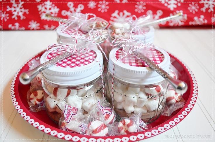 Two Shades of Pink: Mini Mason Jar Hot Chocolate