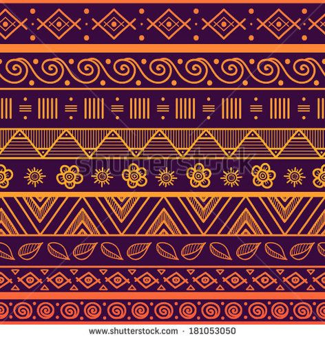 Tribal striped seamless pattern Hand drawn aztec background Can be used in fabric design for making of clothes, accessories creating decorative paper, wrapping, envelope in web design, etc