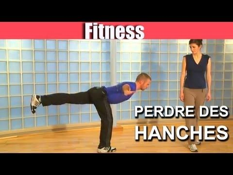 Fitness & Gym : 4 exercices pour perdre des hanches - YouTube