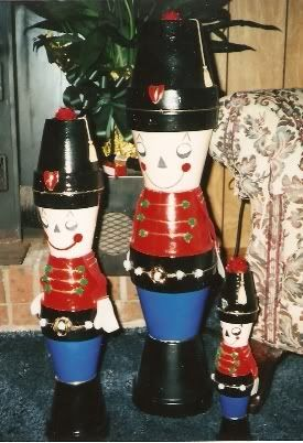 homemade nutcrackers from clay pots nutcrackers. Black Bedroom Furniture Sets. Home Design Ideas