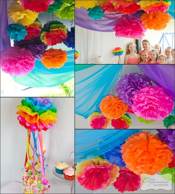 Would love these all over - and I like this fabric draping better than the primary one using table cloths.