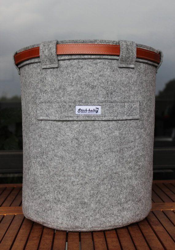 Filzkorb Universal / Papierkorb aus Filz von technikdesigncm, €58.00
