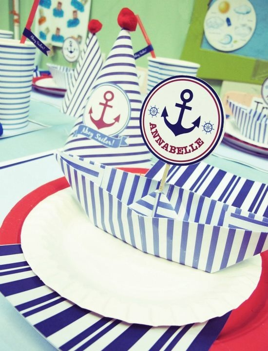 Sailor Birthday Party by EUPHORIA | www.facebook.com/EuphoriaDesignDecor #partytable #party #sailor #birthday