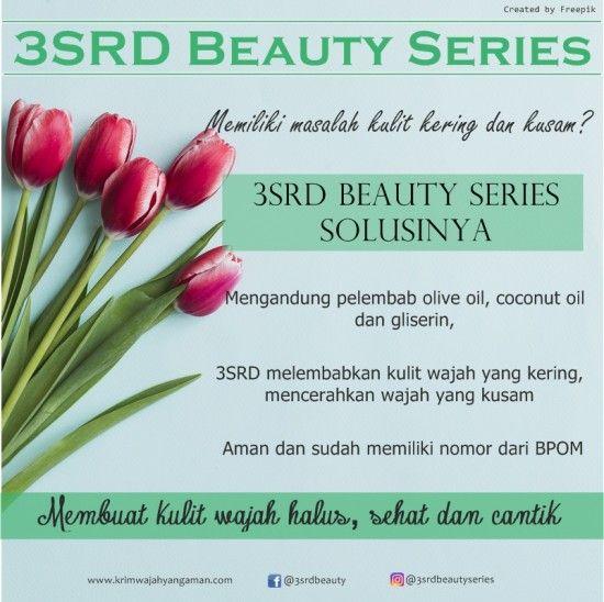 Cream Pencerah Wajah Kering yang Aman untuk Kulit dari 3SRD Beauty Series  | Contact us: Pin: D537A6EE, WA: 0856-2322-435, Line: @yty1701c (pakai @)