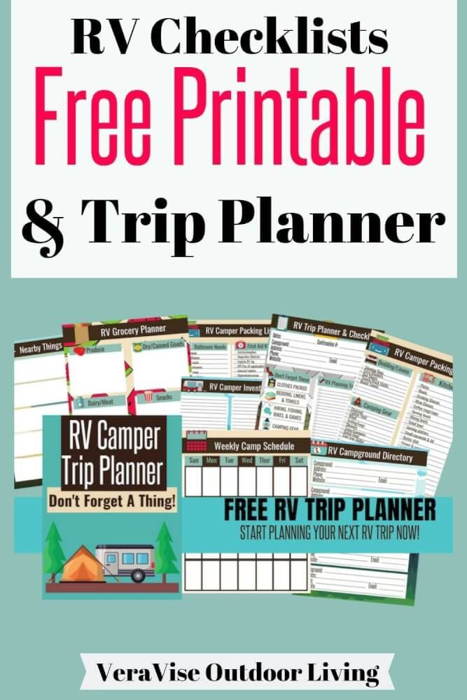 photograph about Rv Packing List Printable known as No cost RV Holiday PLANNER (Printable Camper Rv holiday vacation planner