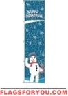 2' x 6' Snowman/Happy Holidays Seasonal Tall Flag