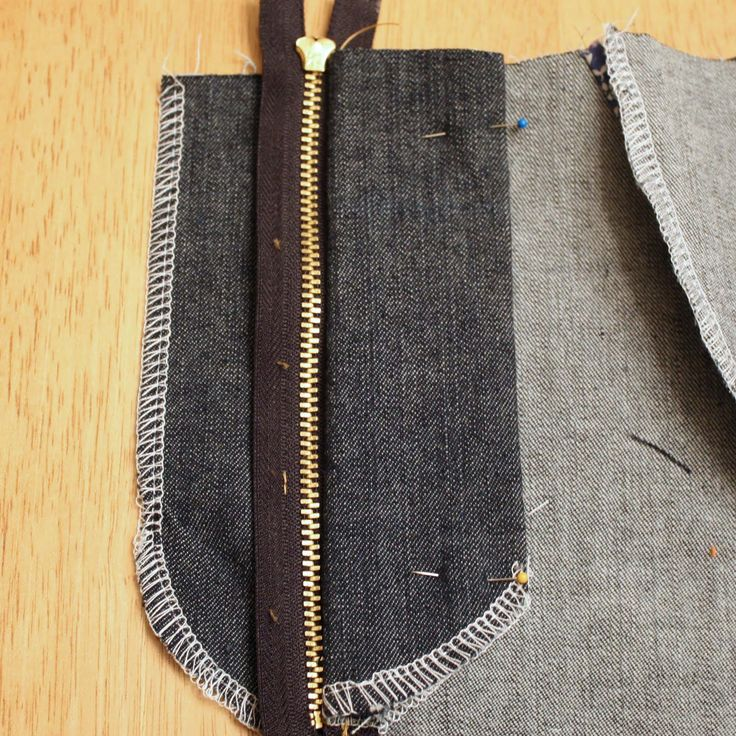 stitching the other side of the zipper fly