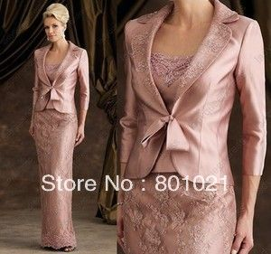 Mother of The Bride Groom Dress Appliques Skin Pink Women Formal Occasion Outfit Suit Free Jacket 2014-in Mother of the Bride Dresses from Apparel  Accessories on Aliexpress.com