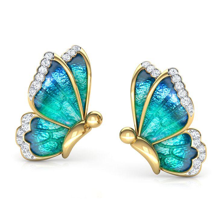 Framed Leaf Drop Earrings Jewellery India Online