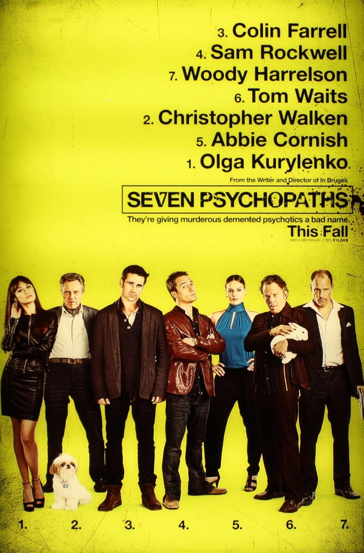 Martin McDonagh's Seven Psychopaths. Nothing is funnier to me than pitch black comedy, and that's what McDonagh does best.