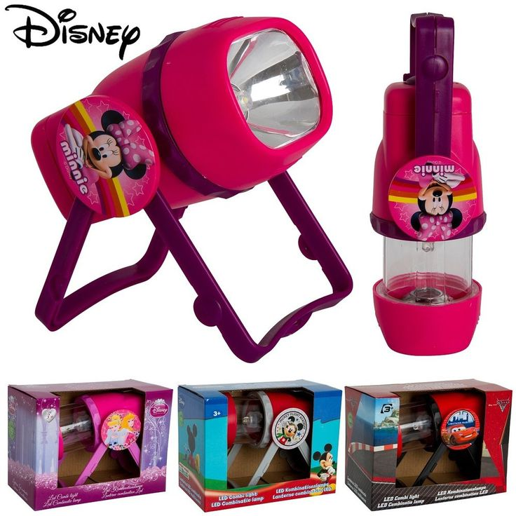 Kids Disney Characters Combi Light Lamp Lantern Led Outdoor Childrens Torch Cars #Disney