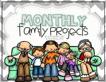 Monatliche Familienprojekte (August – Juni) – Kindergarten/First