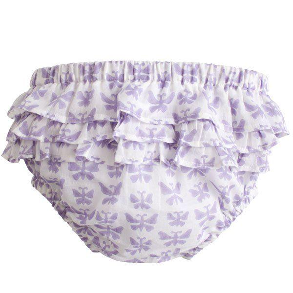 Baby Bloomers  - Purple Jali - Haveli