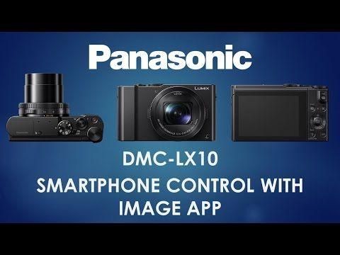 Comment utiliser la fonction de commande sans fil avec l'application Panasonic Image App sur le LUMIX DMC-LX10.