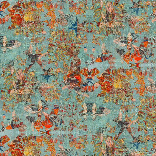 Blue And Red Patterned Luxury Curtain Fabric, Designer Upholstery Fabric  From The New Collection,