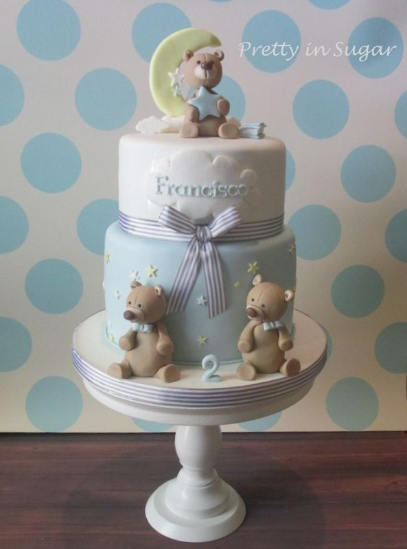 Francisco's Christening #  Second Birthday | Cake stand by Coco&Baunilha