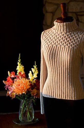 Smock Top Sweater - Free Knitting Pattern |