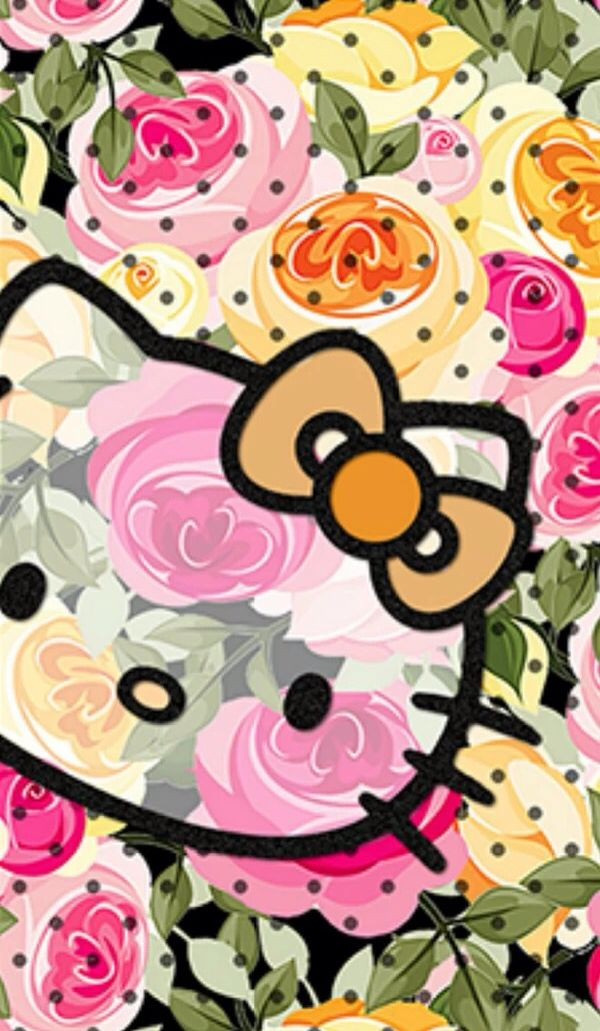 Cute Hello Kitty wallpaper.                              …