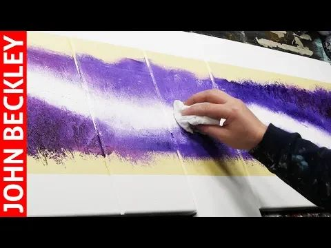 Abstract Painting EASY With Masking Tape | Groovin – YouTube