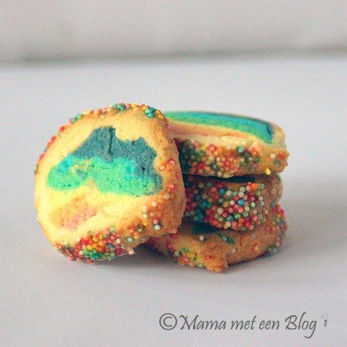 regenboog harten koekjes