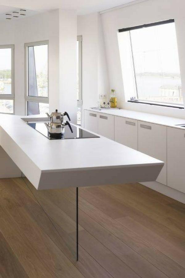 Die besten 25+ weiße Küchen Ideen auf Pinterest Deco küche - kuchenwandgestaltung ideen fliesen glas