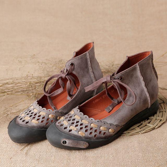Весной И Летом 2016 Мода Мокасины Женщины Вырез Ручной Работы Обувь Женщина Натуральная Кожа Мягкие Случайные Плоские Ботинки Женщин Квартир