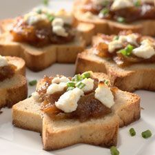 rye toast canapes - Google Search.i love the star shape
