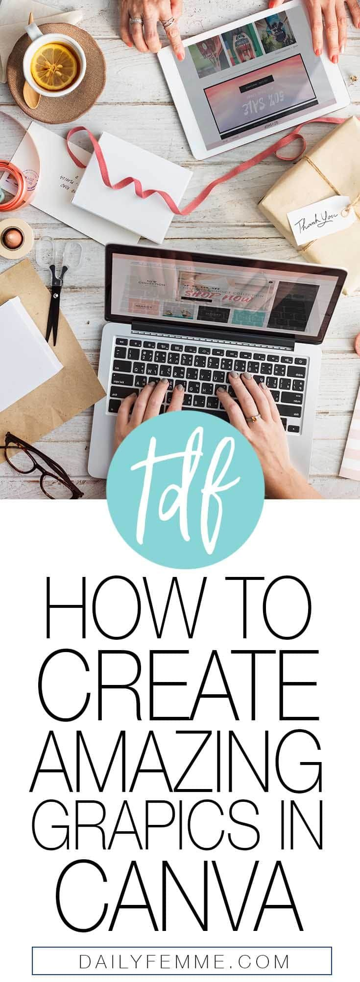 The visual representation of your business and blog is a big deal, it needs to be appealing. Here's a tutorial on how to create amazing graphics using Canva. You can use these graphics for pinnable images, Pinterest Marketing, Facebook Marketing, Instagram Posts or any type of social media marketing.