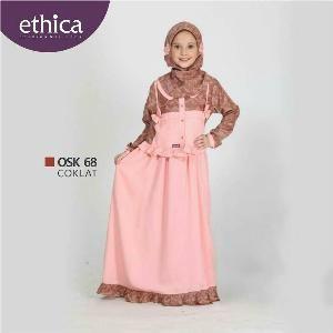 Baju Gamis Anak Ethica OSK 68 COKLAT