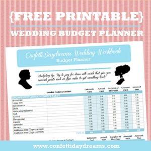 free wedding budget planner