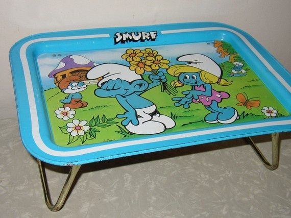 metal tv tray  omg i had this!!!!