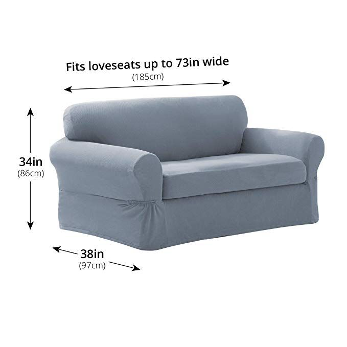 Amazon Com Maytex Pixel Ultra Soft Stretch Sofa Couch Furniture Cover Slipcover Dusty O Furniture Covers Slipcovers Sofa Couch Furniture Furniture Slipcovers