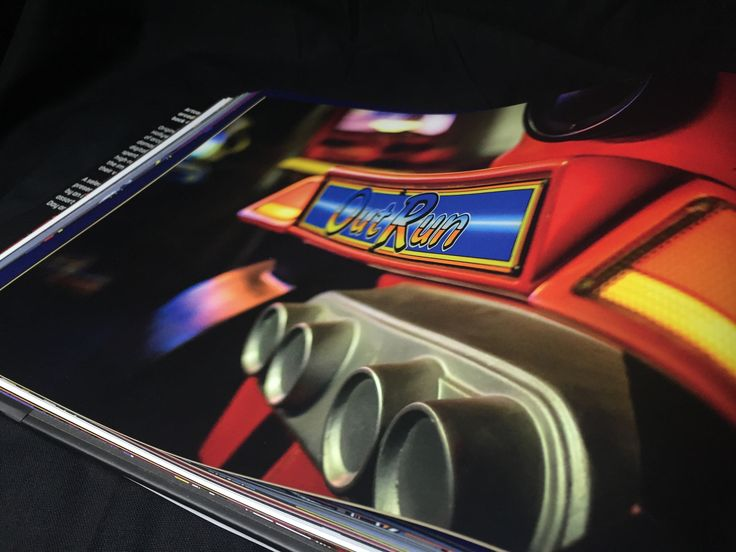 """""""Outrun"""" - Book available here: http://www.funstockretro.co.uk/artcade-classic-arcade-game-art-book"""