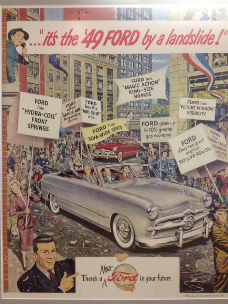 20 best Vintage Ford Ads images on Pinterest | Vintage cars, Vintage ...