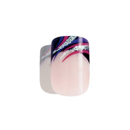 Art bling faux ongles manucure française Glitter Violet 24 Moyen Conseils UK: Amazon.fr: Beauté et Parfum