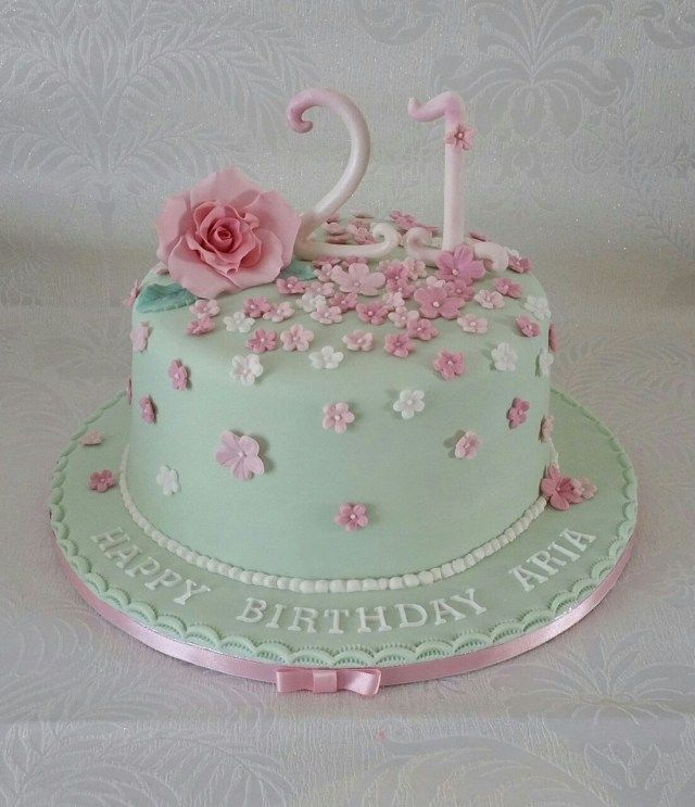 Incredible 30 Excellent Photo Of Pink And Green Birthday Cake With Images Personalised Birthday Cards Epsylily Jamesorg