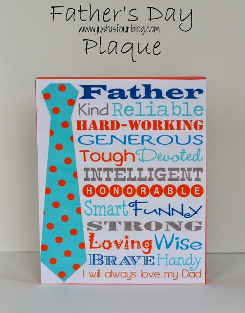 Fathers Day Display {Plus Free Printable} - Just Us Four