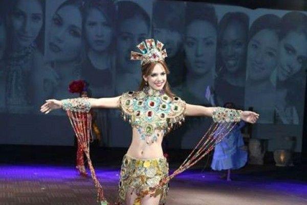Maira Alexandra Rodríguez obtiene plata por traje típico en el Miss Tierra 2014 (Fotos)  Foto: Facebook