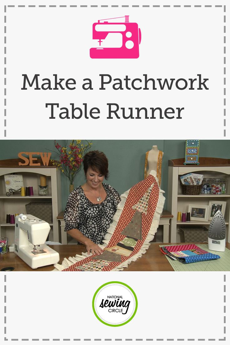 How To Make A Table Runner With Patchwork Fabrics