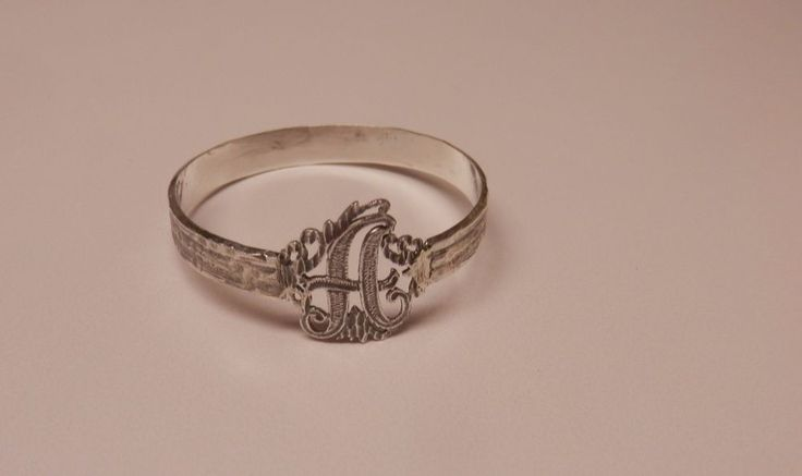 Napkin Ring with a ( Initial ( A ) Sterling Silver