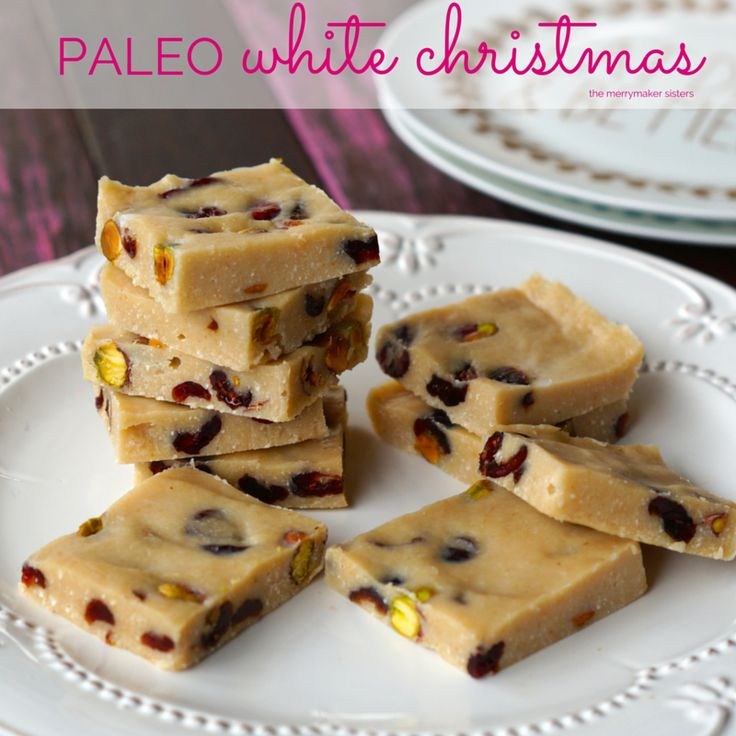 Hello amazing delicious completely drool worthy Paleo White Christmas Slice recipe! Or what about paleo gingerbread cookies? or Paleo Coconut ice?