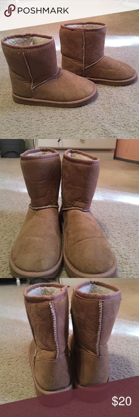 Women's brown boots New condition faux suede brown boots. Only ever worn once and really vote for the winter and fall! Shoes Ankle Boots & Booties