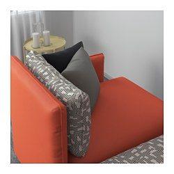 IKEA - VALLENTUNA, Divano a 3 posti, Orrsta arancione