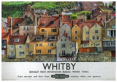 Whitby, North #Yorkshire #Railway Poster