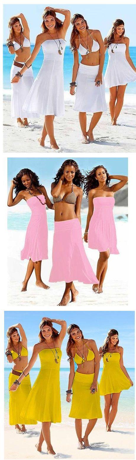 #Vestido de #playa que se convierte en falda. ¿No les parece súper cómodo? Encuéntralo aquí.