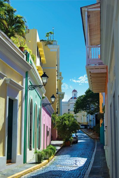 Puerto Rico. I love the colors of the homes and quaint streets