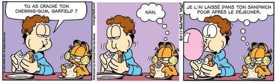 French Garfield comic strip