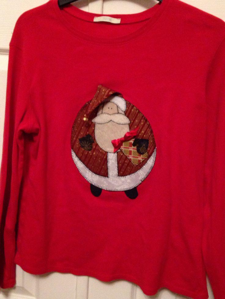 Santa appliqué Christmas top