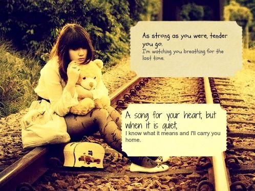 Love those James Blunt lyrics :)
